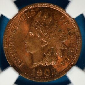 1902 INDIAN HEAD CENT NGC MS64RB  NICE PATINA SURFACES EYE APPEAL