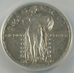 1924 D STANDING LIBERTY QUARTER GRADED ANACS VF 20 DETAILS SCRATCHED CLEANED
