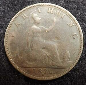 1875 H QUEEN VICTORIA FARTHING COIN   GREAT BRITAIN