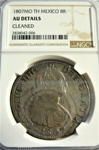 MEXICO 1807 MO TH 8 REALES NGC AU DETAILS