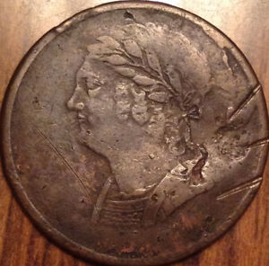 1820 LOWER CANADA HALF PENNY TOKEN BUST AND HARP   SOME DAMAGE