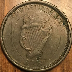 1816 WELLINGTON AND VICTORY ONE PENNY COLONIAL TOKEN