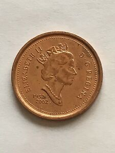 2002 OLD EFFIGY CANADA 1 CENT 1952 2002