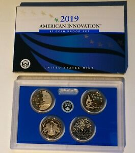 US MINT 2019 AMERICAN INNOVATION $1 COIN PROOF SET SAN FRANCISCO  4 COINS  19GA