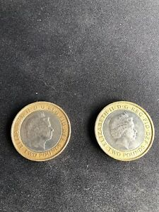 2 TWO POUND COIN'S MINTING ERROR ABOLITION OF THE SLAVE TRADE 1807 2007