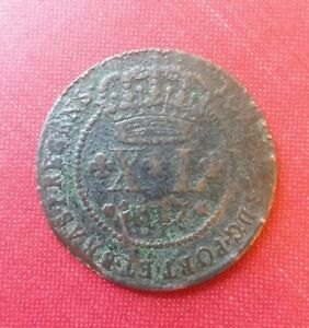 BRAZIL XL 40 REIS 1817 LY  WORLD COIN