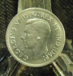 CIRCULATED 1941 5 CENT CANADIAN COIN  72119 1 ..FREE DOMESTIC SHIPPING