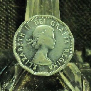 CIRCULATED 1954 5 CENT CANADIAN COIN  72119 1 ..FREE DOMESTIC SHIPPING