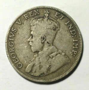 1911 CANADA 25 CENTS   .17OZ ASW SILVER COIN   KING GEORGE V