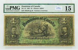 VERY  AFFORDABLE DC 12 1897 DOMINION OF CANADA 1 DOLLAR PMG FINE15