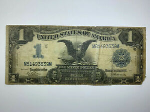 1899 $1 FR 233 BLACK EAGLE OVER A CENTURY OLD SILVER CERTIFICATE  LARGE NOTE