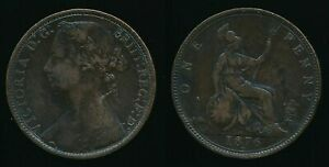 1876H VICTORIA   ONE PENNY  FAST POST