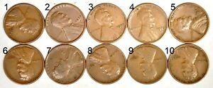 1925 D 1C LINCOLN WHEAT CENT VF  K8252  YOU PICK