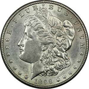 1899 S MORGAN SILVER DOLLAR $1 ABOUT UNCIRCULATED AU