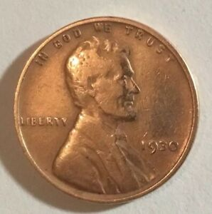 1930 LINCOLN WHEAT CENT BRONZE COMPOSITE PENNY NO MINT MARK  BEAUTIFUL GEM