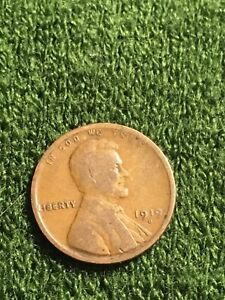 AU 1919 D LINCOLN WHEAT CENT PENNY