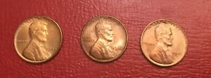 QUALITY 1945 1945 D AND 1945 S RED CHOICE   GEM BU LINCOLN CENTS