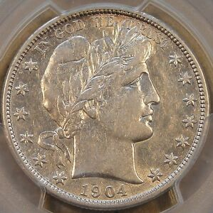1904 O BARBER HALF DOLLAR PCGS XF45 COIN WOULD SIT WELL IN AN AU SET  ALL BUT WH