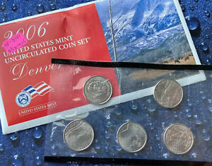 2006 D STATES 25C MINT SET W/COA   CHOICE GEMS?     ORIGINAL MINT CELLO   1 SET