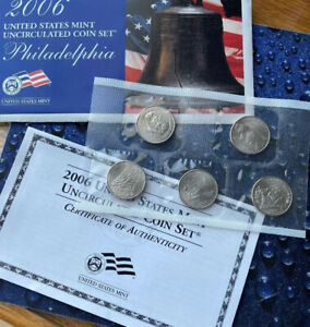 2006 P STATES 25C MINT SET W/COA   CHOICE GEMS?     ORIGINAL MINT CELLO   1 SET