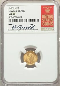 Click now to see the BUY IT NOW Price! 1904 US GOLD $1 COMMEMORATIVE LEWIS & CLARK   NGC MS67