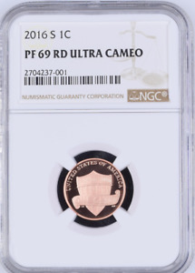 2016 S 1C PF 69 RD   LINCOLN SHIELD CENT PROOF   ULTRA CAMEO   BROWN LABEL NGC