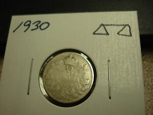 1930   CANADA 10 CENT   SILVER CANADIAN DIME   CIRCULATED