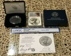 Click now to see the BUY IT NOW Price! 2019 S ENHANCED REVERSE PROOF SILVER EAGLE NGC PF70 SIGNED DAVID J. RYDER 36