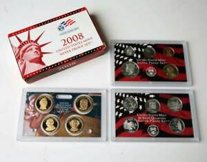 2008 UNITED STATES MINT SILVER PROOF SET COMPLETE WITH BOX AND COA