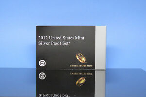 2012 US MINT SILVER PROOF SET LOW MINTAGE ORIGINAL OWNER WITH COA & BOX INCLUDED