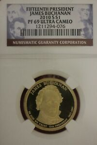 2010 S PF 69 JAMES BUCHANAN PRESIDENTIAL DOLLAR DCAM NGC CERTIFIED SLAB OCE 1014