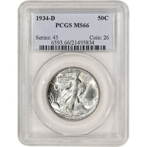 Click now to see the BUY IT NOW Price! 1934 D US WALKING LIBERTY SILVER HALF DOLLAR 50C   PCGS MS66