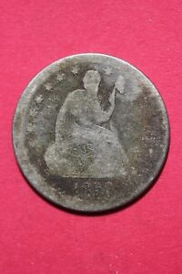CULL 1858 P SEATED LIBERTY QUARTER EXACT COIN SHOWN FLAT RATE SHIPPING OCE 064