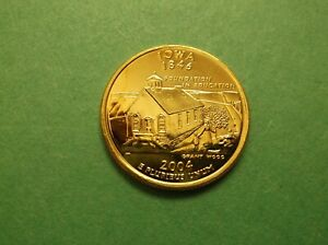 2004 D IOWA 24K GOLD PLATED WASHINGTON QUARTER UNCIRCULATED 247
