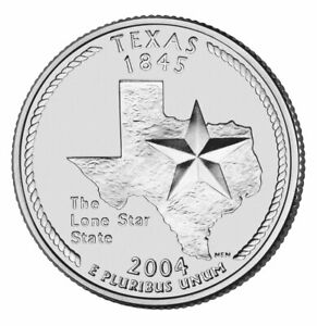 2004 P TEXAS STATE QUARTER   PHILADEPHIA MINT   BU CONDITION