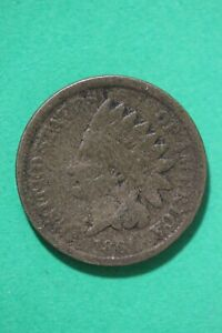 1861 INDIAN HEAD CENT PENNY LOW GRADE EXACT COIN SHOWN COMBINED SHIPPING OCE 106