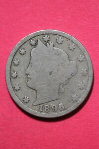 1896 LIBERTY NICKEL CENTS EXACT COIN PICTURED FLAT RATE SHIPPING OCE 220
