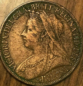1901 GREAT BRITAIN VICTORIA FARTHING COIN