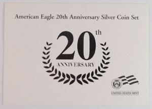 Click now to see the BUY IT NOW Price! 2006 AMERICAN EAGLE 20TH ANNIVERSARY SILVER COIN SET 3 COINS