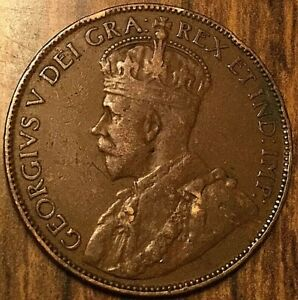 1929 NEWFOUNDLAND LARGE CENT COIN LARGE 1 CENT PENNY
