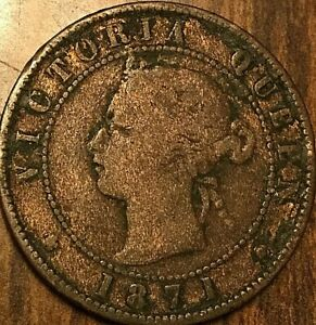 1871 PRINCE EDWARD ISLAND LARGE CENT COIN LARGE 1 CENT PENNY