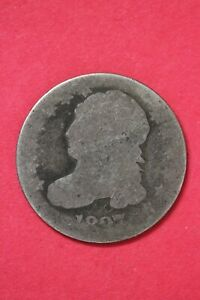 1837 CAPPED BUST DIME SILVER COIN EXACT COIN SHOWN LOW GRADE COIN OCE 12