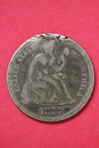 1877 P SEATED LIBERTY DIME EXACT COIN SHOWN LOW GRADE FLAT RATE SHIPPING OCE 51