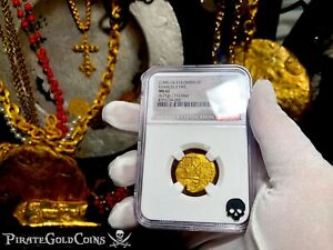 Click now to see the BUY IT NOW Price! COLOMBIA 1700 2 ESCUDOS NGC 62 TREASURE 1715 FLEET SHIPWRECK COINS PIRATE GOLD