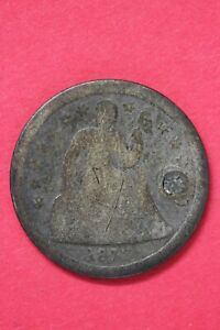 1842 P SEATED LIBERTY DIME EXACT COIN SHOWN LOW GRADE FLAT RATE SHIPPING OCE 31