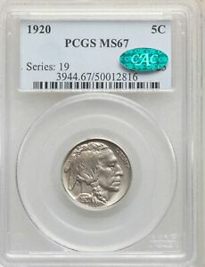 Click now to see the BUY IT NOW Price! 1920 US BUFFALO NICKEL 5C   PCGS MS67   CAC