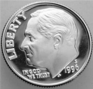 1996 S ROOSEVELT DIME SILVER PROOF NICE NO PROBLEM COIN