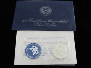 1974 S EISENHOWER UNCIRCULATED 40  SILVER DOLLAR