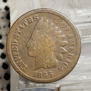 1865 INDIAN HEAD CENT COPPER COIN 1