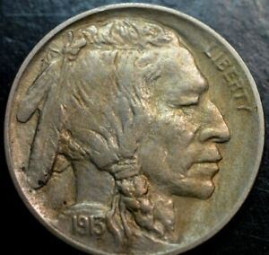 1913 TYPE 1 BUFFALO NICKEL AU  UNC     PART OF A HUGE ESTATE COLLECTION